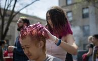Hair dyeing at East Campus