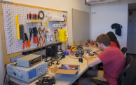 Maker space at Simmons Hall